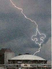 Fluer De Lis Lightning bolt :)  Who Dat?!