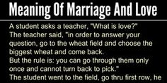 Meaning of Marriage and Love