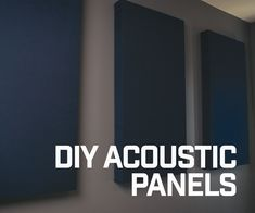 DIY Acoustic Panels: I built some DIY acoustic panels to help cut down on the reverb in my room when recording audio. If you are building a home studio, this project is a great and relatively inexpensive way to make your own acoustic panels! Music Studio Room, Home Studio, Audio Studio, Acustic Panels, Soundproof Panels, Acoustic Wall Panels, Bass Trap, Recording Studio Design, Audio Room