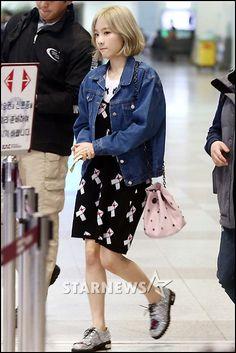 taeyeon airport fashion #snsd #girlsgeneration #KoreanStyle