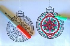 Colorable Christmas Ornament Cards Printable Christmas | Etsy Printable Christmas Ornaments, Art Lesson Plans, 3d Paper, Printable Cards, Elementary Art, Art Lessons, Crafts To Make, Coloring Pages, Decorative Plates