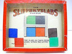 Vintage Slipperyslabs No. 95 Puzzle Game, R. Journet