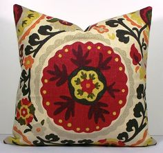 Decorative Suzani Pillow Cover Richloom designer by WilmaLong, $45.00