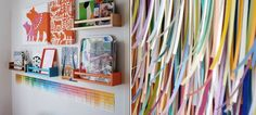 Interesting ideas for paint chip decorating.