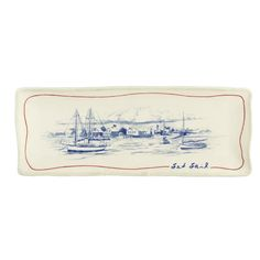 Grasslands Road by The Sea Seaworthy 16-Incailboat Cheese Tray with Stand