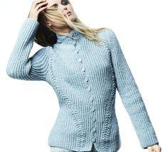 Pull Femme en tricot rose col V par UnCadeauUnSourire.com   Pull femme classe collection 2013 ...
