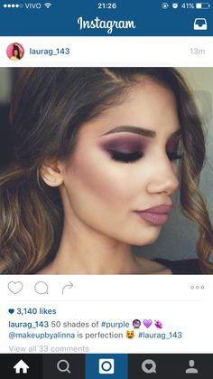 Inspiração para Reproduzir ! Super purple Glam. Olho monocromatico !