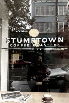 Stumptown Coffee. Seattle Capital Hill.  Make sure to go downstairs to see the coffee lab.