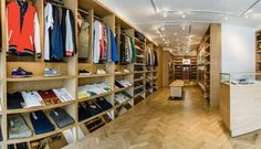 The Best London Retailers For Streewear and Sneakers Skateboard Shop, Clothing Displays, Streetwear Shop, Store Displays, Surf Shop, Retail, Luxury Fashion, London, Sneakers