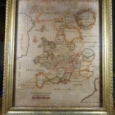 English Map Sampler<br>A. Beale 1787</br> 19x13 $900.00