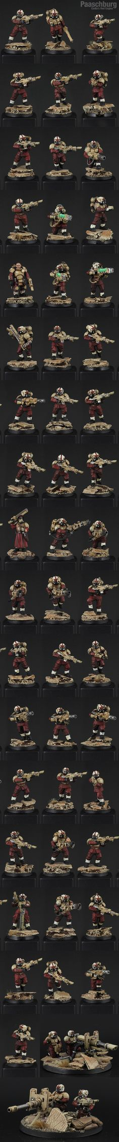 Imperial Guard Army - Cadia's Red Eagles