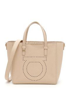 SALVATORE FERRAGAMO SMALL MARTA SHOPPING BAG.  salvatoreferragamo  bags  shoulder  bags  leather  lining   5021c93134002