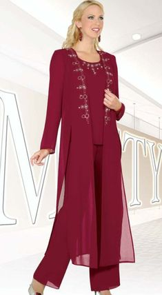 Ben Marc Misty Lane Evening Pantsuit with Duster 13477 at frenchnovelty.com