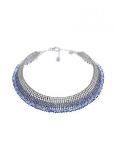 Chopard Classic Collection Copacabana necklace. As the blue night over the famous beach, the briolette sapphire and diamonds sparkle like stars in the sky, to graduated sapphire and diamond line necklace.