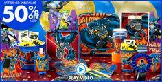 Batman Party Supplies - Batman Birthday Ideas - Party City