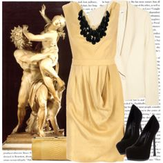 LL - These boards are amazing. Art inspired outfits. This one by my favorite Bernini sculpture.