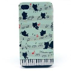 Coque iPhone 4 4s - Chat qui joue du piano
