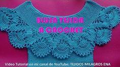 Blusa Rosada tejida con motivos a crochet - TEJIDOS MILAGROS ENA - YouTube