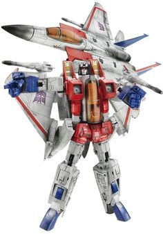 This is a ultra-cool Transformers Takara Masterpiece Starscream Version -- the version from the comics and cartoon.<- I would kill for one of these again! Transformers Masterpiece, Gi Joe, Cartoon Toys, 90s Cartoons, Mecha Anime, Transformers Toys, Custom Action Figures, Vintage Toys, Retro Toys