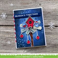 Season's Tweetings Inspiration with the Lawn Fawn Design Team! - Lawn Fawn