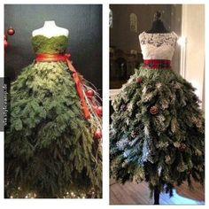 Weihnachtsbaum-Kleid
