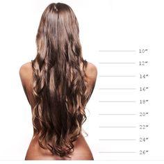 Hair Extensions Lengths #hairxhub #haircare