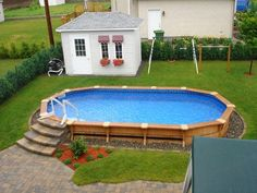 Image Detail For Above Ground Wood Pool Photos Designs