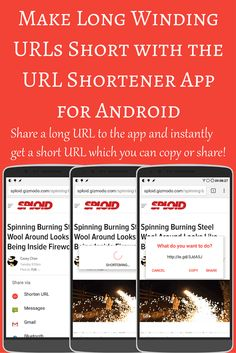 Check out the URL Shortener App for Android which lets you shorten long URLs using various providers and structures to make it more attractive for sharing.