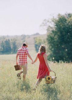 engagement photos...picnic style!