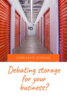 For a lot of businesses, the need for extra space is important. This doesn't always mean your company needs to move to a bigger location; sometimes a spot to hold things off-site can do the job. Storage Solutions, Storage Ideas, Self Storage Units, Office Items, Business Organization, The Unit, Canning, Landscape