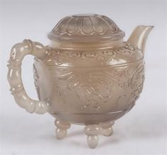 An agate teapot and cover. China, Qing dynasty. PhotoFlorence Number Nine