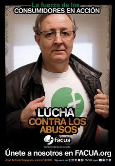 José Antonio Sayagués, socio de FACUA nº 49.819, llama a los consumidores a la lucha contra los abusos