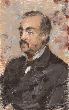 Portrait of Julien de la Rochenoire; Édouard Manet (French, 1832 - 1883); France; 1882; Pastel; 55.2 × 35 cm (21 3/4 × 13 3/4 in.); 2014.20; J. Paul Getty Museum, Los Angeles, California