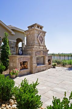 Outdoor Fireplace Design. #OutdoorFireplace  Morning Star Builders LTD.