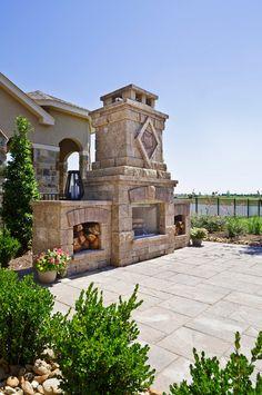 Outdoor Fireplace Design. #OutdoorFireplace  Morning Star Builders LTD.
