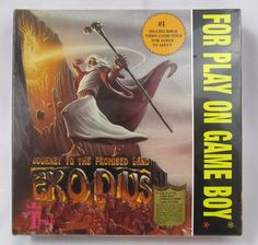 Exodus: Journey to the Promised Land Promised Land, Retro Video Games, Nintendo Games, Journey, Game Boy, Play, Boys, Movie Posters, Baby Boys