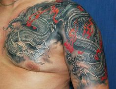 Two japanese dragons