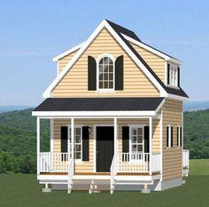 16x20 Tiny House -- 574 sq ft -- PDF Floor Plan