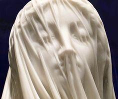 """Krzysztof Piotrowski na Twitterze: """"Giovanni Strazza (1818-1875). Włoski rzeźbiarz. Błogosławiona Maryja Dziewica w welonie. Marmurowym welonie. Około 1850 r. Klejnot 💎 🌍 https://t.co/e5x4iKxT3B"""""""