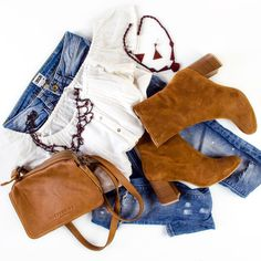 So in ♥ with my Liebeskind mini bag & my Vagabond booties!