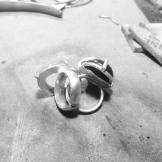 Adjustable silver rings by Acid Queen Jewelry