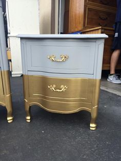 Six drawer French Provincial Dresser, Nightstands, Changing Table, Buffet, Credenza Steel Furniture, French Furniture, Refurbished Furniture, Furniture Makeover, Painted Furniture, Thomasville Furniture, Colorful Furniture, Cheap Furniture, Home Furniture