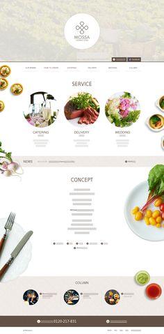 飲食店・ケータリング・WEBサイト・ホームページ・デザイン・レシポンシブWEBデザイン・ホワイト・アイボリー・ベージュ
