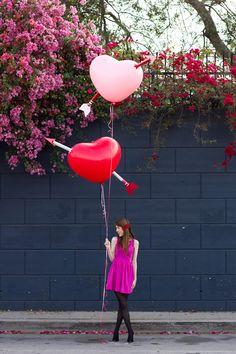 DIY Giant Cupid's Arrow Balloons
