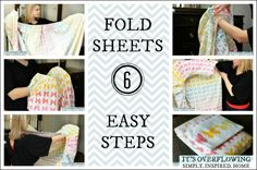 As seen on HGTV -- How to Fold a Fitted Sheet -- make those linen closets tidy again! @ItsOverflowing.com