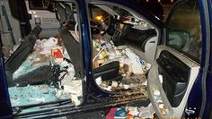 """Two Georgia women charged after 38 cats found living in a minivan"" Posted April 27, 2016 Fulton County Animal Control officer Tim Poorman had to dig through the minivan for cats and kittens, where he found days-old kittens inside a cup holder. #hoarding #cats #minivan #Georgia"