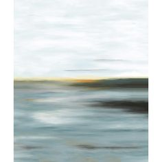 PTM Images Traditional Horizon Framed Painting Print on Wrapped Canvas Size: My Canvas, Canvas Size, Canvas Prints, Painting Frames, Painting Prints, Paintings, Contemporary Wall Art, Cool Tones, Beach Art