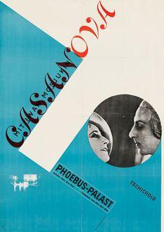 Gallery Tschichold: Casanova film poster, 1927 designed by Jan Tschichold