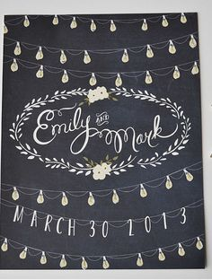 Moonlight wedding sign customized with names and date from etsy seller firstsnowfall