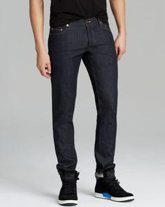 PUBLIC SCHOOL PS13 Mens Raw Selvedge Denim Indigo Slim Jeans Blue 28x35 NWT $395 #PublicSchool #SlimSkinny